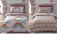 Clouds & Rainbows Hope Duvet Cover Girls Reversible Single Bed Quilt Bedding Set