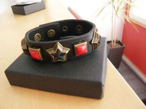 Liebeskind Berlin Damen Herren Mädchen Vintage Red Stone Armband B