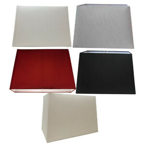 Lamp Shades for Table/Ceiling Lamps - Modern Easy Fit Rectangular Light Shades