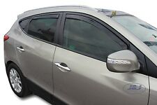 DHY17262 HYUNDAI ix35 ix 35  2010-2015 wind deflectors 5dr 4pc set TINTED HEKO