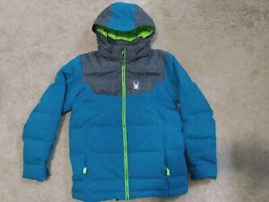 Spyder Clutch Down Jacket Youth US 18 (XL) Ski Snowboard Winter Jacket Mint cond