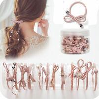 12Pcs/Set Simple Korea Headwear Women Girls Elastic rubber Hair Ties Accessories