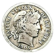 USA 1905S Barber Dime Silver.900 Scarce Coin