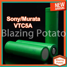 2 Sony Murata VTC5A 18650 Rechargeable High Drain Batteries 2500mAh w/ FREE CASE