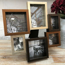 Multi Mixed Freestanding 6 Family Picture Collage Home Metal Display Photo Frame