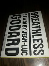 Breathless (Blu-ray Disc, 2010, Criterion Co. 408) W/ BOOKLET. JEAN-LUC GODARD.