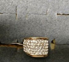 18kt Gold Plated Ring with Cubic Zirconia, Fashion Jewelry