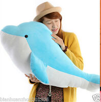 Blue Dolphin Plush Soft Stuffed Animals Toys Doll kids Birthday Gifts 23.6'' Big