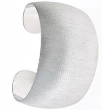 Armspange / offener Armreif aus 925 Sterling Silber eismatt Silberarmreif breit
