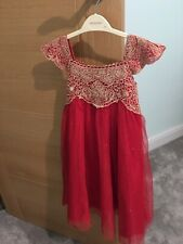 **Brand New** Monsoon Baby Estella Red Dress Party / Bridesmaids Age 3