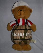 "Jaag Niagra Falls Bear in Barrel 14"" Plush Soft Toy Stuffed Animal"
