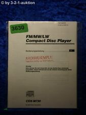 Sony manual de instrucciones CDX m730 CD Player (#3630)