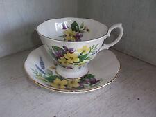 Royal Albert Bone China Violets Lavender Cup & Saucer England