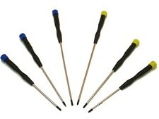 6 Piece Colour Coded Long Precision Screwdriver Set Philips Slotted  SD213