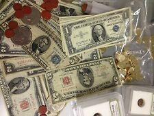 ESTATE LOT US (3) $1 $2 $5 RED/BLUE SEAL CURRENCY NOTES SILVER CERTIFICATES #%30