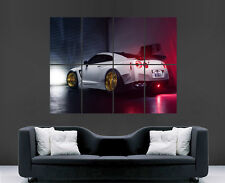 NISSAN GTR POSTER GARAGE  TRACK RACING ART CAR FAST IMAGE LARGE WALL PICTURE