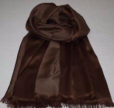 Edler Schal für Herren, Dunkle Braun Töne, lässige Eleganz mit 100 % Seide