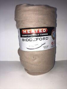 "Biddeford Blankets Comfort Knit Fleece Heated Electric Throw Blanket, 62"" x 50"","