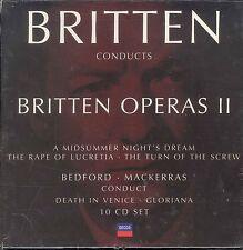 Benjamin Britten conducts Britten Operas II 10 disc box CD NEW Rape of Lucretia