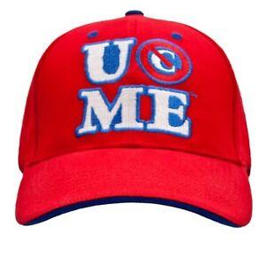WWE JOHN CENA PERSEVERE RED BASEBALL CAP OFFICIAL NEW