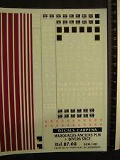 DECALS TRAIN 1/87 MARQUAGES ANCIENS PLM + DIVERS SNCF  - CARPENA  8708
