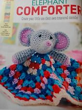 CROCHET PATTERN Elephant Security Blanket Toy Childrens 6.5cm Tall PATTERN