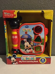 DISNEY Mickey Mouse Clubhouse My First Learning Book Lights Up Bilingual Shapes