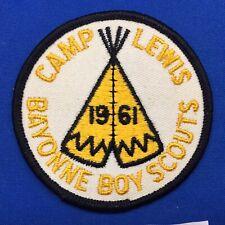 Boy Scout Camp Patch 1961 Camp Lewis Bayonne Boy Scouts