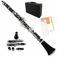 Professional Bb Clarinet School Band Care Kit 11 Reed Student Beginner Black