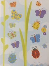 "BUTTERFLY Stickers(4-1/2""x 10"") Garden•Ladybugs•Flowers•Nature •Insects•Outside•"