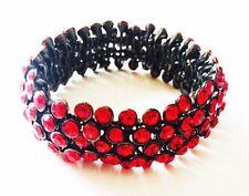 USA Bracelet Rhinestone Crystal Adjustable Bangle Red Party Fashion