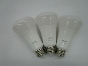 Philips - Hue White A19 Bluetooth Smart LED Bulb (3-Pack) - White 476951 - (VG)