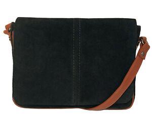 Over 50% Off Rowallan Black Suede Shoulder Bag