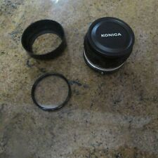 Konica Hexanon 57mm F1.4 AR Mount Lens with Lens Hood and Front Cap