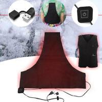 5V USB Electric Heater Vest Heated Pad Cloth Jacket Winter Warmer Heating Sheet