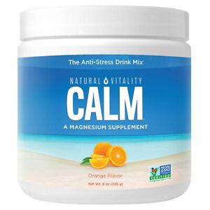 Natural Calm - 8 oz (Orange) FRESH, FREE SHIPPING, MADE IN USA