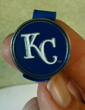 "Kansas City Royals MLB 1"" Golf Ball Marker 2 sided with Blue Hat Clip"