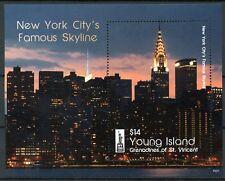 Joven isla Gren St Vincent 2016 estampillada sin montar o nunca montada ciudad de Nueva York NY2016 1v s/s Sellos