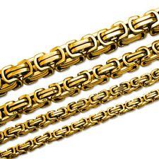 Königskette Herren Kette Set Armband Panzerkette Edelstahl gold silber schwarz