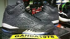 AIR JORDAN 3LAB5 BLACK / METALLIC SLVER  ovo MENS Sz 8.5 fragment