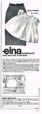 PUBLICITE ADVERTISING 035  1966  ELNA   machine à coudre SUPERMATIC