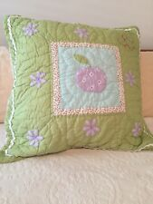 Pottery Barn Kids Euro Pillow Sham Darcy Apple Quilted
