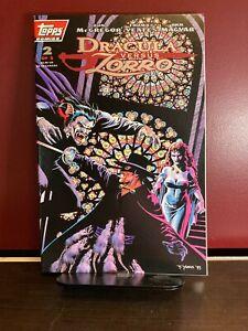 DRACULA VERSUS ZORRO #2 Topps Comics - Excellent Condition