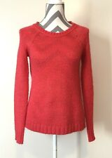 Roxy 510 Sweater Size XS Womens Knit Top Long Sleeve Red Gold Sparkling  Hi-Low 93cb90f2d