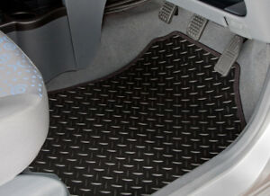 CAR MATS FOR BMW 5 SERIES G30 2017 ON TAILORED BLACK RUBBER BLACK TRIM