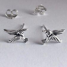 925 Sterling Silver Humming Bird Stud Earrings Cartilage Animal Post Earring NEW