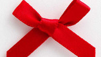 Small 3cm Wide Pre-Tied 30 x Red Mini Bows (6mm Satin Ribbon) Craft Card Making