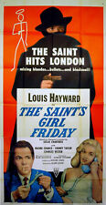 SAINT'S GIRL FRIDAY 1953 Louis Hayward Diana Dors LESLIE CHARTERIS US 3-SHEET
