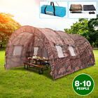 US 8-10 Person Camping Tent Double Layers Waterproof Hiking Shelter Camouflage