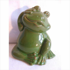 LATEX MOULD MOULDS MOLD.       4 INCH SITTING FROG WITH HAND TO HEAD